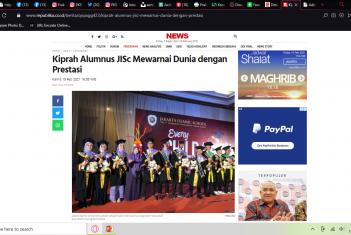 Liputan Media: Kiprah Alumnus JISc Mewarnai Dunia dengan Prestasi